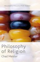 Cover image for Philosophy of Religion