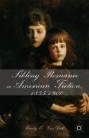 Cover image for Sibling Romance in American Fiction, 1835–1900