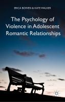 Cover image for The Psychology of Violence in Adolescent Romantic Relationships