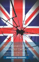 Cover image for Institutional Crisis in 21st-Century Britain