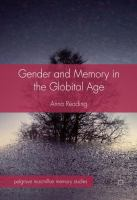 Cover image for Gender and Memory in the Globital Age