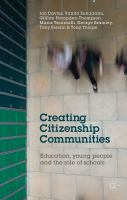 Cover image for Creating Citizenship Communities Education, Young People and the Role of Schools