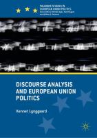 Cover image for Discourse Analysis and European Union Politics