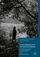 Cover image for Screen Adaptations and the Politics of Childhood Transforming Children's Literature into Film