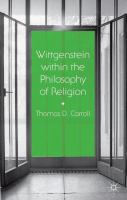Cover image for Wittgenstein within the Philosophy of Religion