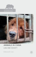 Cover image for Animals in China Law and Society