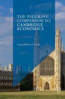 Cover image for The Palgrave Companion to Cambridge Economics
