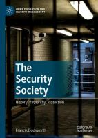 Cover image for The Security Society History, Patriarchy, Protection
