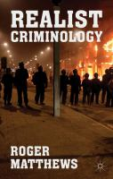 Cover image for Realist Criminology
