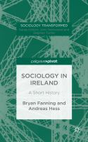 Cover image for Sociology in Ireland: A Short History