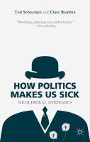 Cover image for How Politics Makes Us Sick Neoliberal Epidemics