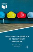 Cover image for The Palgrave Handbook of Age Diversity and Work