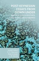 Cover image for Post-Keynesian Essays from Down Under Volume III: Essays on Ethics, Social Justice and Economics Theory and Policy in an Historical Context