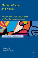 Cover image for Muslim Women and Power Political and Civic Engagement in West European Societies
