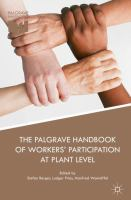 Cover image for The Palgrave Handbook of Workers' Participation at Plant Level