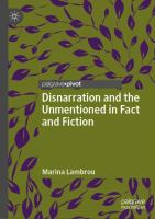 Cover image for Disnarration and the Unmentioned in Fact and Fiction