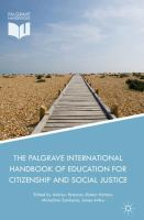 Cover image for The Palgrave International Handbook of Education for Citizenship and Social Justice
