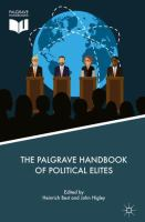 Cover image for The Palgrave Handbook of Political Elites