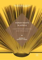 Cover image for Human Rights in Africa Contemporary Debates and Struggles