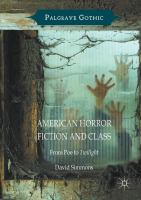 Cover image for American Horror Fiction and Class From Poe to Twilight