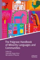 Cover image for The Palgrave Handbook of Minority Languages and Communities
