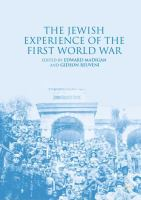 Cover image for The Jewish Experience of the First World War