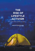 Cover image for The Rise of Lifestyle Activism From New Left to Occupy