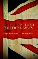Cover image for Butler's British Political Facts