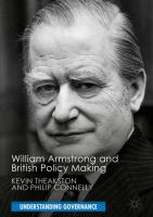 Cover image for William Armstrong and British Policy Making