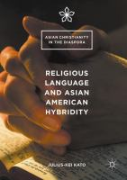 Cover image for Religious Language and Asian American Hybridity