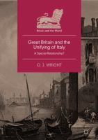 Cover image for Great Britain and the Unifying of Italy A Special Relationship?