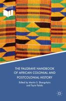Cover image for The Palgrave Handbook of African Colonial and Postcolonial History