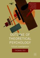Cover image for Outline of Theoretical Psychology Critical Investigations