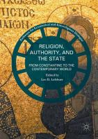 Cover image for Religion, Authority, and the State From Constantine to the Contemporary World