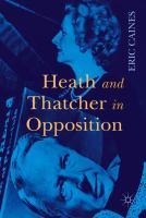 Cover image for Heath and Thatcher in Opposition