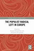 Cover image for The populist radical left in Europe