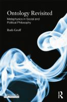 Cover image for Ontology revisited : metaphysics in social and political philosophy