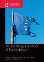 Cover image for The Routledge handbook of Euroscepticism