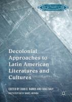 Cover image for Decolonial Approaches to Latin American Literatures and Cultures