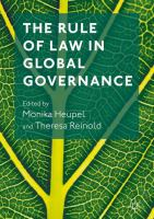 Cover image for The Rule of Law in Global Governance