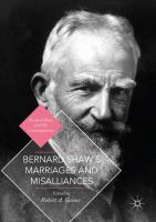 Cover image for Bernard Shaw's Marriages and Misalliances