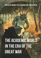 Cover image for The Academic World in the Era of the Great War