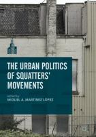 Cover image for The Urban Politics of Squatters' Movements
