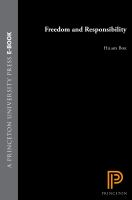 Cover image for Freedom and responsibility