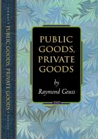 Cover image for Public goods, private goods