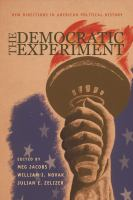 Cover image for The Democratic Experiment New Directions in American Political History