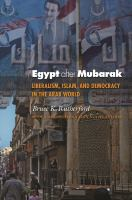 Cover image for Egypt after Mubarak Liberalism, Islam, and Democracy in the Arab World