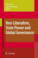 Cover image for Neo-Liberalism, State Power and Global Governance