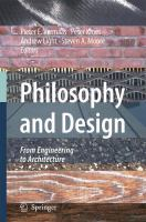 Cover image for Philosophy and Design From Engineering to Architecture