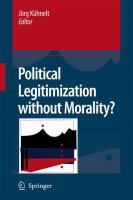 Cover image for Political Legitimization without Morality?